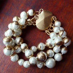 Beaded Bracelets Layered Olivet Pearl Gift Jewelry Accessories Women