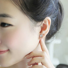 Silver Earrings Tiny Stud Flower Sakura Romantic Gift Jewelry Accessories Women