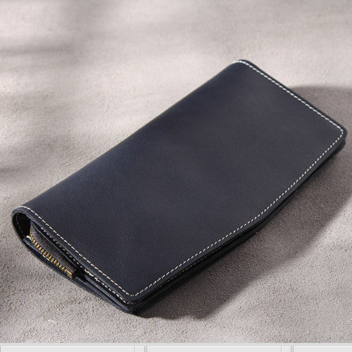 Handmade leather vintage Men PERSONALIZED MONOGRAMMED GIFT CUSTOM Cool long wallet clutch phone purse wallet