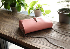 Handmade Leather Cute Camel Women Chain Shoulder Bag Purse Personalized Monogrammed Gift Custom Chain Crossbody Bag Purse