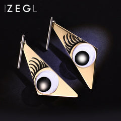 Earrings Big Eye Eyelash Triangle Geometric Unique Long Drop Dangle Party Christmas Gift Jewelry Accessories Women