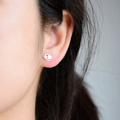 Silver Earrings Rocket Planet Stud Earring Cute Christmas Gift Jewelry Accessories Women