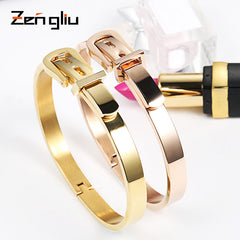 Bracelet 18k Rose Gold Plated Buckle Bangle Christmas Gift Jewelry Accessories Women
