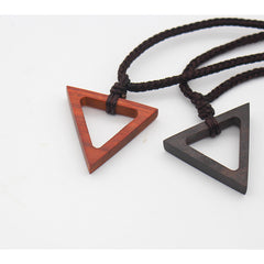 Ebony Camwood Handmade Necklace Triangle Geometric Charm Pendant Gift Jewelry Accessories Women
