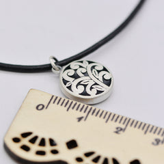 Necklace Silver Tree Branch Charm Round Pendant Choker Necklace Christmas Gift Jewelry Accessories Women