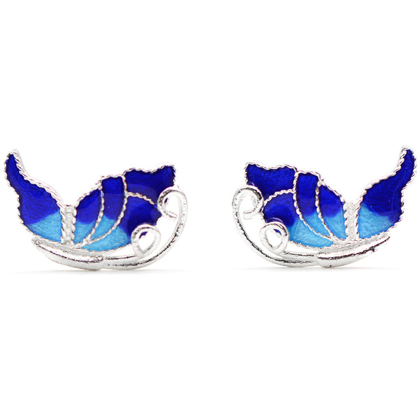 Silver Earrings Butterfly Stud Earring Cute Christmas Gift Jewelry Accessories Women