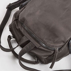 Handmade Leather Cute Womens Girls Backpack Purse Handbag Shoulder Bag