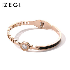 Bracelet 18k Rose Gold Plated Rhinestone Bangle Christmas Gift Jewelry Accessories Women