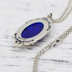 Necklace Silver Vintage Enamel Princess Cute Charm Pendant Choker Necklace Christmas Gift Jewelry Accessories Women