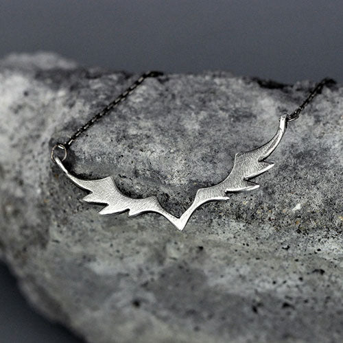 Silver Necklace Angel Wings Spirit Zodiac Astrology Constellation Charm Chokers Gift Jewelry Accessories Women Christmas
