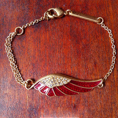 Vintage Bracelet Wings Angel Rhinestone Chain Gift Jewelry Accessories Women