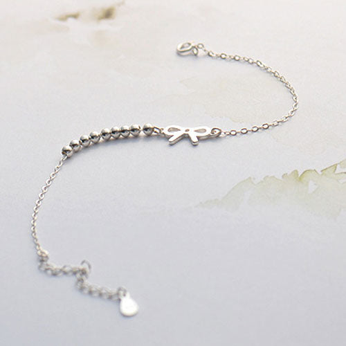 Silver Bracelet Bowknot Cute Chain Bracelets Gift Jewelry Accessories Women