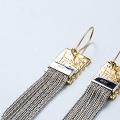 Silver Earrings Vintage Waterfall Thread Chandelier Long Dangle Drop Gift Jewelry Accessories Women