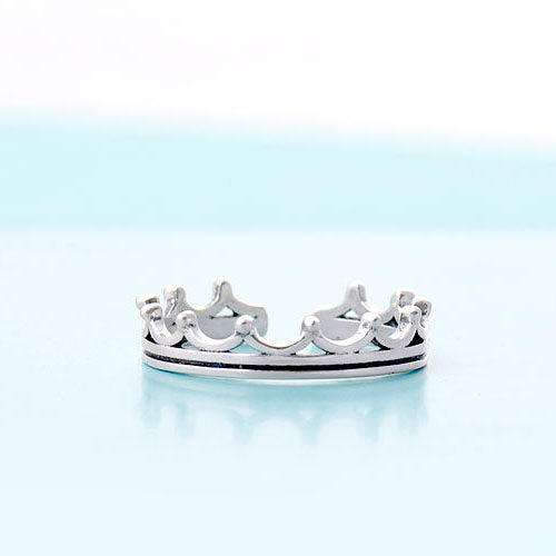Silver Ring Crown Tiara Statement Ring Adjustable Ring Wrap Gift Jewelry Accessories Women