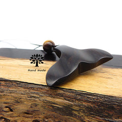 Personalized Engraved Handmade Wooden Necklace Whale Tail Mermaid Fish Pendant Gift Jewelry Accessories Women