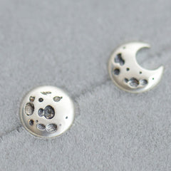 Silver Earrings Moon Star Planet Studs Earrings Gift Jewelry Accessories Christmas Gift For Women
