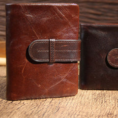 Handmade leather vintage women men wallet clutch phone purse wallet