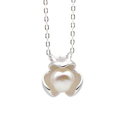 Necklace Silver Floral Pearl Charm Pendant Choker Necklace Christmas Gift Jewelry Accessories Women