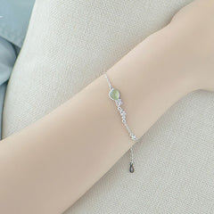 Silver Bracelet Waterdrop Crystal Charm Bracelet Chain Bracelets Gift Jewelry Accessories Girls Women