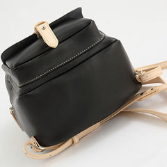 Genuine Leather Women Girl Cute Black Small Bag Shoulder Bag Backpack