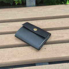 Handmade leather vintage women men short wallet clutch purse wallet