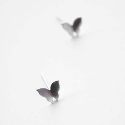 Silver Earrings Butterfly Romantic Tiny Stud Gift Jamber Jewelry Accessories Women