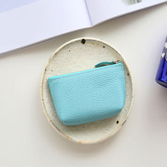 Genuine Leather Cute Tassels Small Wallet Women Girl Change Coin Wallet Purse Pouch