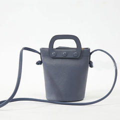 Genuine Leather Women Cute Girl Handbag Bucket Bag Crossbody Bag Shoulder Bag