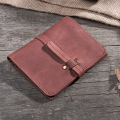 Handmade leather vintage women short wallet PERSONALIZED MONOGRAMMED GIFT CUSTOM clutch coin purse wallet