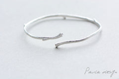 Silver Bracelets Minimalist Simple Limb Tree Branch Cuff Bangle Gift Jewelry Accessories Women