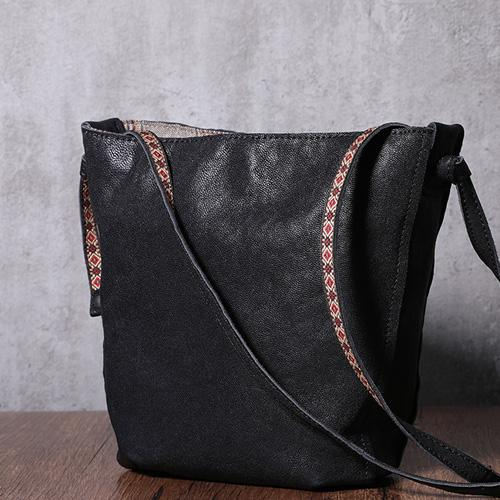 Black Leather Bucket Bag Small Bucket Bag Bucket Shoulder Bag