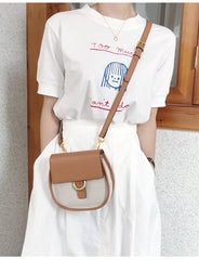 Brown LEATHER WOMEN Saddle SHOULDER BAG FOR WOMEN