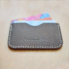 CUTE PERSONALIZED Women Card Holder Pouch HANDMADE LEATHER MONOGRAMMED GIFT CUSTOM Card Wallet Holder