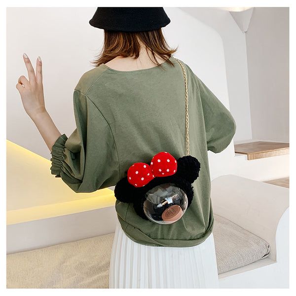 Cute Minnie Mouse Crochet Crossbody Purse Minnie Mouse Crochet Shoulder Bag for Girl Minnie Mouse Crochet Crossbody Purse