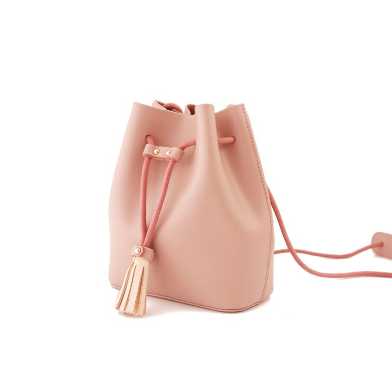 Cute LEATHER Bucket Bag WOMENs SHOULDER BAG Purses FOR WOMEN