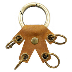 Cute Mini Keyring Keychain Handmade Leather Women Personalized Monogrammed Gift Custom Wallet