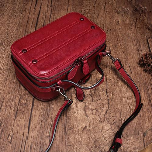 Best Leather Crossbody Bag Square Cube Box Small Leather Shoulder Bag