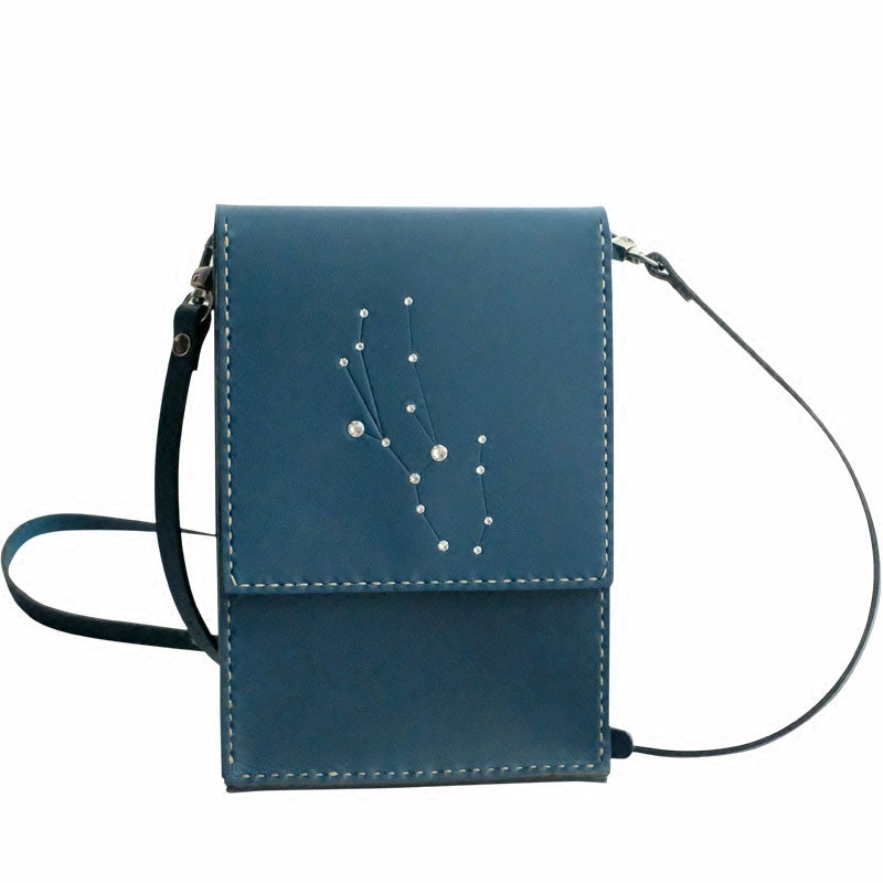 55b5cf278ba HANDMADE LEATHER CUTE Constellation SHOULDER BAG PURSE PERSONALIZED ...