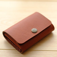 HANDMADE LEATHER CUTE PERSONALIZED Women Card Change Holder Pouch MONOGRAMMED GIFT CUSTOM Coin Wallet Holder