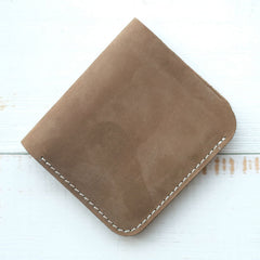 HANDMADE LEATHER Women Cute Bifold Short Small WALLET PERSONALIZED MONOGRAMMED GIFT CUSTOM Card Holder Small Wallet