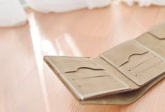 HANDMADE LEATHER Women Cute Trifold Short Small WALLET PERSONALIZED MONOGRAMMED GIFT CUSTOM Card Holder Small Wallet