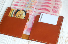 HANDMADE LEATHER Women Slim Short Small WALLET PERSONALIZED MONOGRAMMED GIFT CUSTOM Card Holder Small Wallet