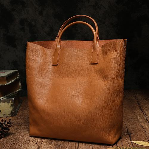 Brown Leather Tote Bag Womens Tote Bags For Work Purse