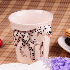 Handmade cute coffee milk mug animal Chrysanthemum pet dogs 3d Funny Birthday Gift Gift for Her Holiday Gift Christmas Gift