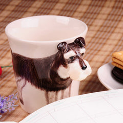 Handmade cute coffee milk mug animal Border collie pet dogs 3d Funny Birthday Gift Gift for Her Holiday Gift Christmas Gift