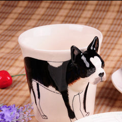 Handmade cute coffee milk mug animal Poodle pet dogs 3d Funny Birthday Gift Gift for Her Holiday Gift Christmas Gift