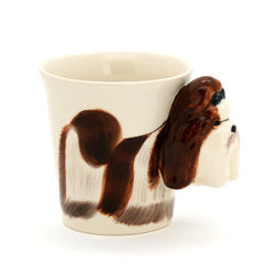 Handmade cute coffee milk mug animal Schnauzer pet dogs 3d Funny Birthday Gift Gift for Her Holiday Gift Christmas Gift