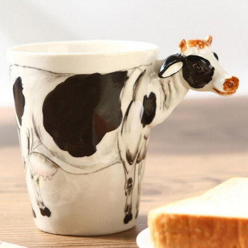 Handmade Cute Coffee Milk Mug Animal Cow 3d Funny Birthday Gift F Evergiftz