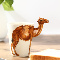 Handmade cute coffee milk mug animal camel 3d Funny Birthday Gift Gift for Her Holiday Gift Christmas Gift