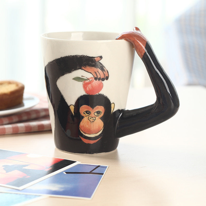 Handmade cute coffee milk mug animal chimpanzee 3d funny birthday handmade cute coffee milk mug animal chimpanzee 3d funny birthday gift gift for her holiday gift christmas gift negle Choice Image